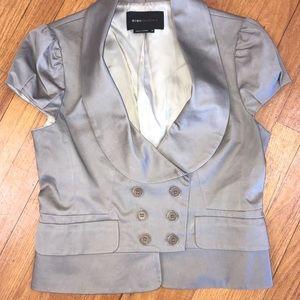 BCBGMAXAZRIA Gray Short Sleeve Blazer